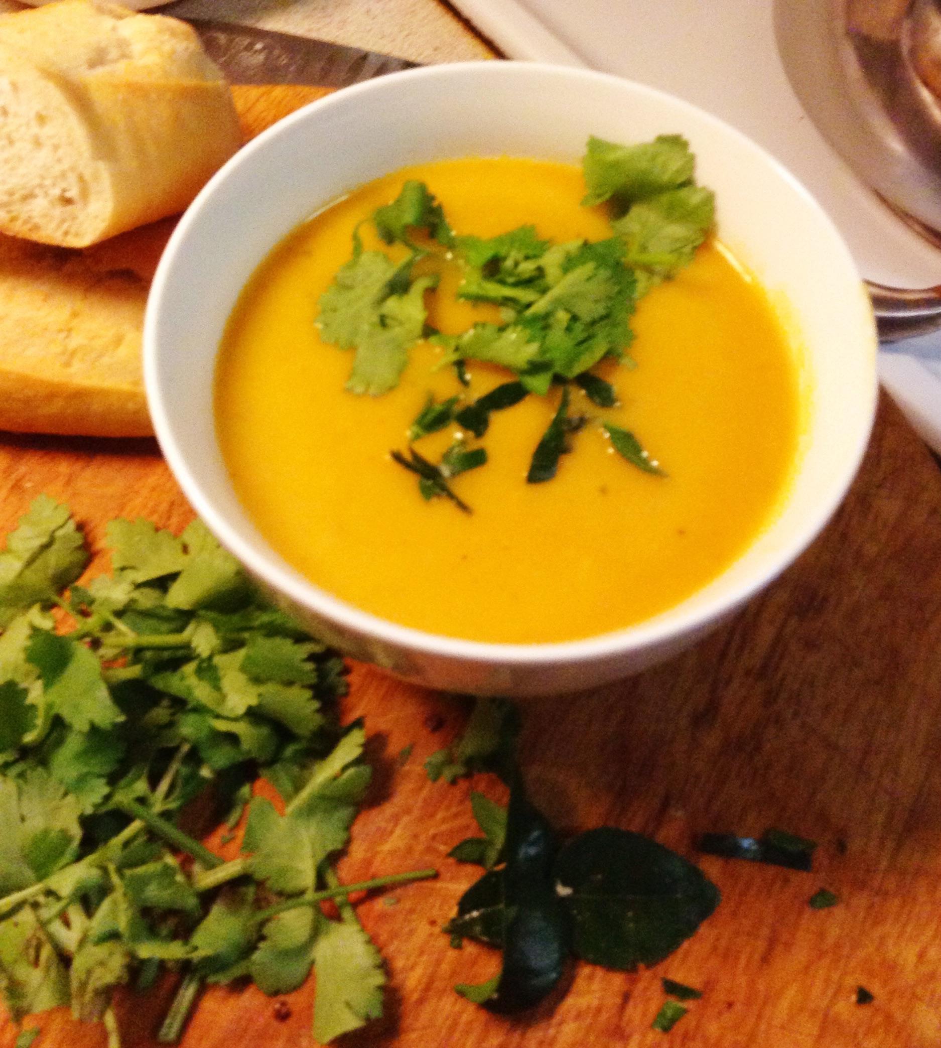 Thai-inspired pumpkin soup