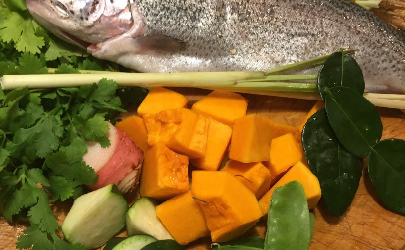 Rainbow trout curry